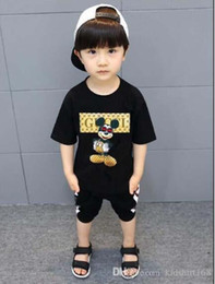 2019 i capretti vestono anni 2019 Nuovo marchio di design 2-9 anni Baby Boys Girls T-shirt Summer Shirt Top bambini Tees Camicie per bambini Abbigliamento sconti i capretti vestono anni