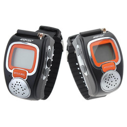 Relógios walkie talkie on-line-008 0.5W Dois Way Radios Sport Watch Mini Walkie Talkie Pair