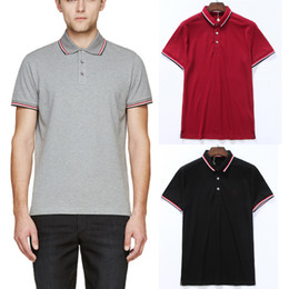 Polo in piqué di cotone online-Popolare calssico Vendita Spalato Shirt 3 orlo stile Pique Colors Trim Fit 2020 Top Polo Estate Cotton Wear Hot Slim Woblq