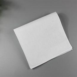 Fazzoletti bianchi 28 cm fazzoletto bianco puro puro colore quadrato cotone asciugamano sudore fazzoletto pianura accessori festa di nozze di natale da