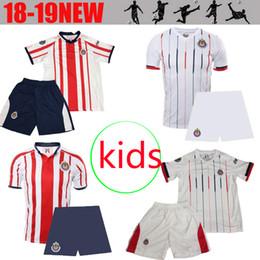 ce72b49e6 Thailand New 18 19 LIGA MX kids kit Chivas de Guadalajara 2018 2019 Home  Away Soccer Jersey A.PULIDO Camiseta de child Futbol jerseys