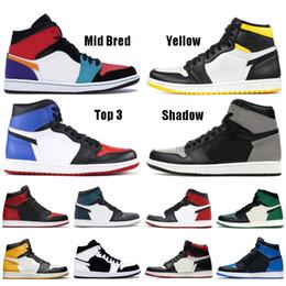 scarpe da uomo nyc Sconti nike air jordon retro 2019 1 1s Gioco Royal Scarpe da pallacanestro uomo Mid Bred Multicolore NYC TO PARIS TURBO GREEN SPIDERMAN sneaker da uomo firmate Sneakers Sport
