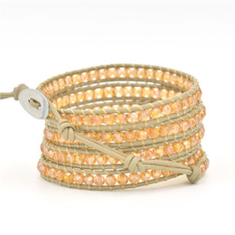 Conjuntos de perlas puras online-Fashion Love Designer Mens leather Charms Bracelet Pearl String Beads Pure Manual Bracelet Hand Decorate Jewelry Sets hombres mujeres pulseras