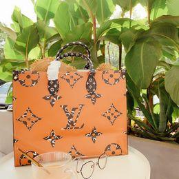 LLVV luxury fashion designer di marca in pelle borsa shopping bag Onthego Monogram tote Zebra Forest PARIS Spedizione gratuita 41 * 34 * 19 da