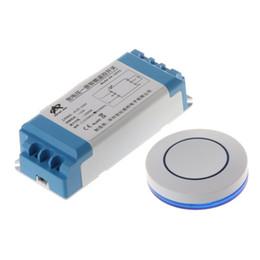 2019 relè di controllo della tensione Involucro Modulo impermeabile Radio Receiver Luce 1Set AC85-250V Wireless LED Uscita Interruttore Relè con autoadesivo rotondo telecomando