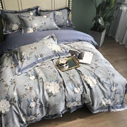 country bedding sets regina Sconti Set di biancheria da letto country americano europeo, full queen king in cotone vintage fiore doppia casa tessile lenzuola federa copripiumino