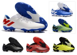 Bottes messi pas cher en Ligne-2019 New Mens Nemeziz Messi 19.3 FG 19 Football Football Chaussures Bottes 19 Scarpe Calcio Pas Cher Crampons Taille 39-45
