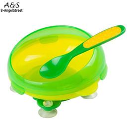 Pratos infantis Dinnerware Bowl Infantil Container Derramamento Proof Pratos Crianças Louça Com Colher Removível de Fornecedores de tubo rápido