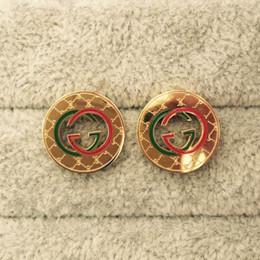 G joyería de plata online-2019 pendientes de lujo de calidad superior marca cartas oro perla G sello pendiente oro plata Stud pendientes para las mujeres joyería del banquete de boda