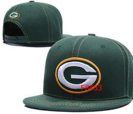Дешевые зеленые шапки онлайн-Бесплатная доставка дешевые Green Bay hat GB Cap snapback футбольные кепки с плоскими полями размер команды мяч бейсболка женщины мужчины классический ретро мода 01
