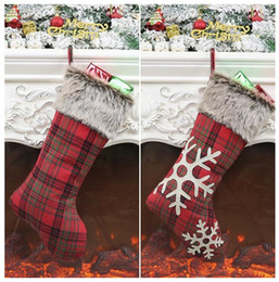 trees decor Coupons - Christmas Stockings Decor Christmas Trees Ornament Party Decorations Santa Christmas Stocking Candy Socks Bags Xmas Gifts Bag