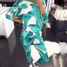 Vestito di pelliccia degli animali online-Lady casuale del vestito della tuta con cappuccio 2Pcs Set pantaloni lunghi Animal Print Homewear casuale Imposta O Collo manica lunga autunno pelliccia