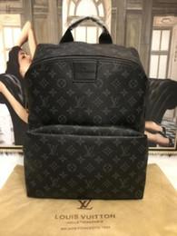 2019 nueva mochila de moda unisex europea y americana impresión negra bolsa de viaje al aire libre bolsa bandolera bandolera desde fabricantes