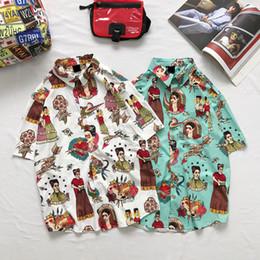 Camisa de hombre manga larga online-2019 hombres del verano vestido camisa llegada manga media longitud botón de ajuste abajo cuello camisas de negocios impresas de alta calidad