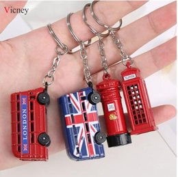 Key organizer Keychain Pocket Gift Bolso London Red/&Blue Key chain keyring