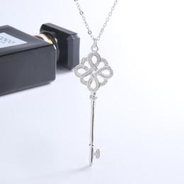 Nuova autentica collana in argento sterling con chiave in argento sterling Tiffany925 per donne supplier sterling silver keys da chiavi in argento sterling fornitori