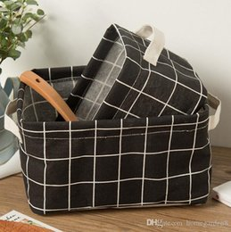 Wholesale Caja de almacenamiento de tela de algodón cesta de almacenamiento cosmética caja de almacenamiento plegable de control remoto de escritorio para el hogar