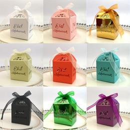 Caixas de decorações de casamento on-line-Eid Mubarak Caixa De Presente De Papel Ramadan Partido Islâmico Feliz Eid Mubarak Decorações Muçulmanos Do Casamento Caixa De Doces Do Partido