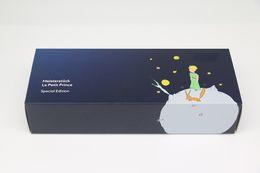 Шкафы люкс деревянные онлайн-Роскошный дизайн Black Wood рамка Коробка с ручкой слот Для мб маленький принц серии пенал с двумя руководства