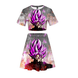 ball trends Coupons - Popular anime DRAGON BALL 3D Trend Set two-Piece Women's Fashion Summer New Women's Fashion Casual Cool Summer Fashion Suit