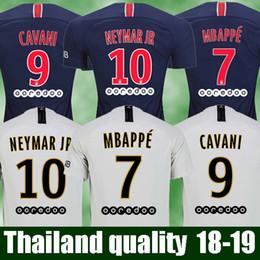 Hot Thailand maillot psg Soccer jerseys 2018 2019 Maillot de foot MBAPPE  CAVANI BUFFON Jersey 18 19 football kits soccer shirt MEN SIZE discount  thailand ... 3d18ae3cd