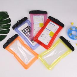 2019 teléfonos de huellas digitales Natación al aire libre, a la deriva, teléfono móvil, bolsa impermeable, bolsa de aire, bolsa flotante impermeable, pantalla táctil, pantalla táctil, desbloqueo de huellas dactilares teléfonos de huellas digitales baratos