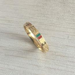 Nouveau luxe marque Brand Design argent or argent vert rouge mince couple bagues bijoux pour femmes hommes mariage engagement cadeau livraison gratuite ? partir de fabricateur