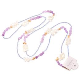 Natürliche barocke perlen großhandel online-Perlenschmuck Für Frauen natürliche Süßwasser Barock Perle Großhandel neue Modeschmuck Reine Handweberei