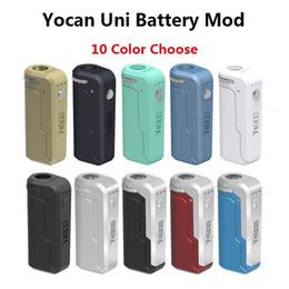 Original Yocan UNI Vape Stylo E Boîte à cigarettes Mod. Vape 650mAh Préchauffer VV Batterie à tension variable pour toutes les cartouches d'huile à adaptateur de filetage 510 ? partir de fabricateur