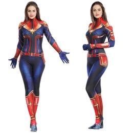Marvel Capitão cosplay macacão apertado lavagem herói da Marvel Capitão Marvel role-playing grande extensão de