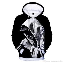34121932 EMINEM 3D Дизайнер Мужчины Толстовки Мода Eminem Печати Толстовки С  Капюшоном Hommes Пуловеры