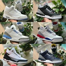 db911a25ce9d65 2019 reine spitze weiß Umsatz 2019 Pure White 3 Herren Basketball-Schuhe  Günstige 3s Tinker