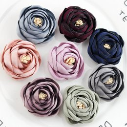 piccoli fiori artificiali artigianali Sconti 20 pz / lotto 3.5 cm festa di nozze decorazione della casa corona fai da te scrapbooking artigianato piccolo artificiale rosa bocciolo di seta testa di fiore