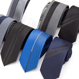 Cravatte da uomo cravatta a righe sottili per cravatta da uomo di lusso da uomo Business Cravatta Jacquard cravatta maschile Camicia da uomo con cravatta a forma di regalo Gravata da camicia coreana bianca nera fornitori
