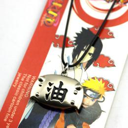 cosplay naruto zeichen Rabatt Anime Naruto Uzumaki Halsketten-Metall Cosplay Charakter Zubehör Anhänger