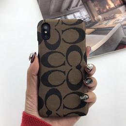 telefones franceses Desconto Famosa marca francesa phone case para iphone xs max xr x pu capa de couro para iphone 7 8 6 s 6 plus dropshipping