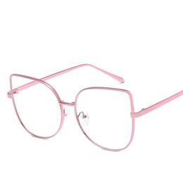 2020 brillengestell rosa Aktuelle Style Fashion Vintage Women Brillen Frames Pink Gold Big Metall Brillen Brille Rahmen L7714CJ günstig brillengestell rosa