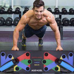 тренажерный зал тренажерный зал Скидка Push Up Rack Board 9 система Мужчины Женщины комплексные фитнес упражнения тренировки Push-up стенды Бодибилдинг тренажерный зал