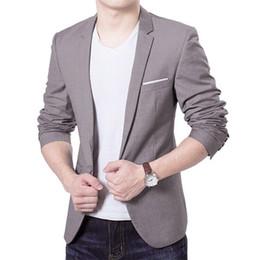 2019 um botão elegante homens Nova marca 2019 Charme dos homens Casual Sólidos Slim Fit Um Botão Terno Blazer Moda Mais Recente Elegante Casaco Formal Casaco Tops desconto um botão elegante homens