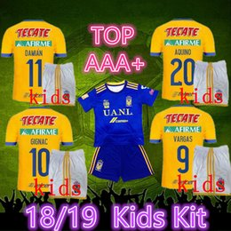 b49b806547b4b kits jersey méxico Rebajas 1819 Tigres UANL camisetas de fútbol kit niños  2018 2019 México club