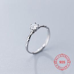 Cz 925 anillo de porcelana online-925 plata esterlina individual CZ Zircon boda abren los anillos de las mujeres joyería al por mayor 2019 Solitario Jewellry de China al por mayor barata