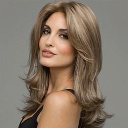 Canada Europe / Amérique Mid-point Fashion Lady Perruques Cheveux Capless Perruques Perruque de Cheveux Longs et Longs Style Business Offre