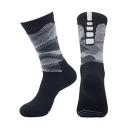 Serviettes de basket sueur en Ligne-9705 2019 chaussettes de basket-ball élite absorbant la transpiration absorbant la chaussette antidérapante pour chaussettes chaussettes de basket-ball pour hommes chaussettes sport en tube