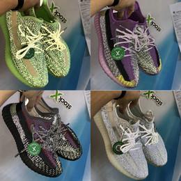 2019 sapata nova do esporte cr7 Kanye yecheil yeshaya estática preto citrin nuvem branca 3M reflexivo sapatos casuais GID brilhar verdadeiros manteiga forma de argila homens mulheres formadores de designer