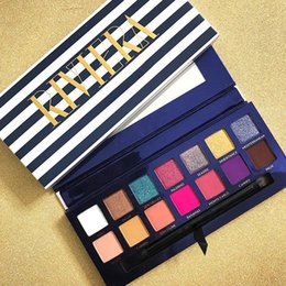 2019 NOUVEAU Marque palettes de maquillage RIVIERA 14 couleurs Palettes de fards à paupières Shimmer Matte Ombre à paupières douce novina modernprim beauty palette DHL ? partir de fabricateur