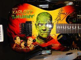 Canada Rare kirk Hammett LTD KH-3 Karloff Mummy Guitare Électrique Micros Original EMG, Real Floyd Rose Tremolo, Peint à l'Aérographe par Eye Kandi Offre