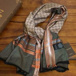 Жаккардовая шаль пашмины онлайн-Фирменный стиль женские шарфы Пашминовый платок Трикотажные жаккардовые буквы шелковая шерсть хлопок материал мода шарф квадратный для женщин размер 140см-140см