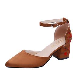 Argentina Vestido 2019 Chaussure Femme Señoras Tacones altos Mujeres Bombas Bordar Zapatos de boda Mujer Zapatos Mujer Sapato Feminino Suministro