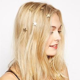 Корейская звезда девушка онлайн-M MISM 4 Шт. / Компл. Звезда Спиральные Заколки для Волос для Девочек Золотые Заколки Женщины Vintage Barrette Корейской Моды Haar Accessoires