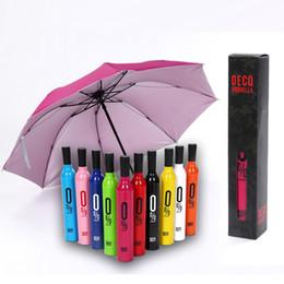 guarda-chuva azul vermelho Desconto Garrafa de vinho Guarda-chuva de Viagem de Moda Garrafa de Vinho Dobrável Sol Chuva Umbrella Windproof Sun Sombra Guarda-chuva 9 design